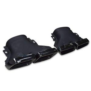 Выхлопная труба для W212 E200 E260 E300 E CLASS с Е63 обвесом серебра черного автомобилем модифицирована квадратного ртом наконечник глушителя для