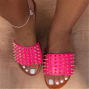 Eel Leater las mujeres! Wo-Ig de calidad zapatillas de marca las sandalias planas Soe Dener Soes Slide Soes baloncesto Soes Casual flip flop G02 # 226 # 511