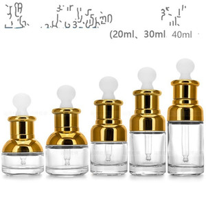 Esencia transparente vidrio con gotero esencial Rodillo de taza de aceite de alto grado Taza Fragancia hombro filtro tapón de goma de cabeza plana 1 98yb B2