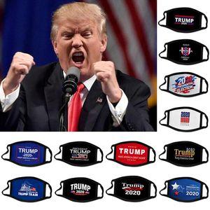 Trump campagne présidentielle 2020 élection masque facial duskproof bouche mode anti-brouillard et le nez Trump musc respirant réutilisable masque d'impression