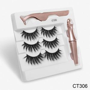 Magnetic eyelashes handmade 3D magnetic lashes natural false eyelashes magnet lashes with box Long Lasting Eyelash Extension