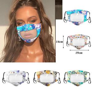 DHL 2020 Mode lavable et réutilisable Masque Designer Masque Protection pour adultes avec des masques Bouche fenêtre transparente visible Coton visage