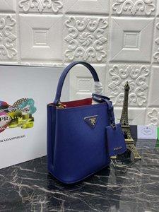 Bolso del diseñador de moda clásico de las señoras del bolso del cubo diagonal del regalo púrpura bolso de cuero bolso nuevo temperamento ocasional de alta calidad 217