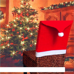 Christmas Decorations Santa Claus Clause Hat Chair Covers Dinner Chair Cap for Party Festival free shipping