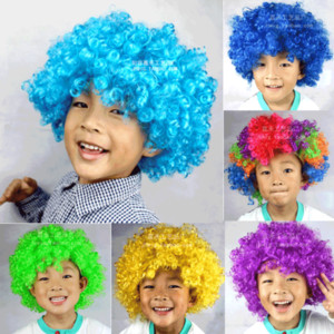 Halloween Party Funny Circus Clown Wigs Disco Explosive Caps for Explosive Head Wig Dance Wedding Party Dress Performance Props VT0113