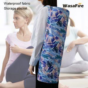 Printed Yoga Mat Bag Gym Mat Case For Momen Men Pilates Fintess Exercise Pad Easy Carry Yoga Backpack Dance Sports Bags
