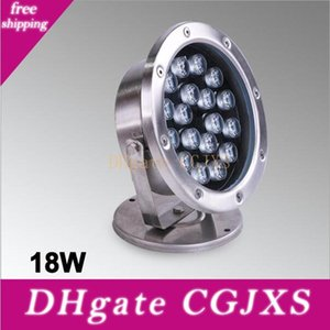 18W بقيادة نافورة مصباح تحت الماء الإضاءة الفولاذ المقاوم للصدأ IP68 سلامة AC12V / 24V حمام سباحة / مجمعات / في الهواء الطلق الإضاءة راحة