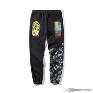 Bap A Baño A Ape Streetwear Shark Bone Personalidad camuflaje cielo camuflaje semi impresión mosaico sobre la tendencia de algodón pantalones Wei
