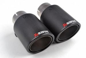 2 pièces (une paire) Multi Inlet 63MM Akrapovic Conseil de carbone Pot d'échappement fin tuyaux d'échappement AK carbone Conseils Silencieux accessoires automobiles qJdr #