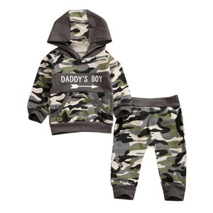 New Autumn Winter Camouflage Baby Sets Infant Kids Baby Boys Outfits Suit Toddler Long Sleeve Cotton Hooded Tops+Long Pants Set