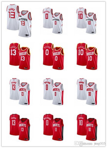 Delle donne degli uomini della GioventùHoustonRockets13 JamesHarden 0 RussellWestbrook 15 Clint Capela bianco rosso personalizzato pallacanestro Jersey