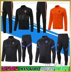 De calidad superior 2020 PAÍSES BAJOS DE JONG MEMPHIS DE Ligt traje de entrenamiento de fútbol para adultos chaqueta de chándal 2020/21 VIRGILIO PROMES niños de fútbol