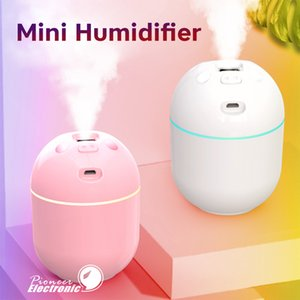 Mini Air Humidifier Aroma Essential Oil Diffuser Aromatherapy Mist Maker Portable USB Chargeable Cute Mini Pig Humidifiers for Home Car