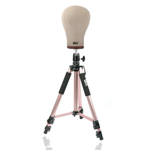 Rose Tripod Training Doll Head Wig Manikin Canvas Block Head Stand Aluminium Alloy Round And Mannequin Head CX200716