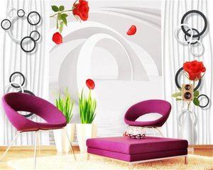 Custom Photo 3d Wallpaper Expanding the space with delicate roses Premium Atmospheric Interior Decoration Wallpaper