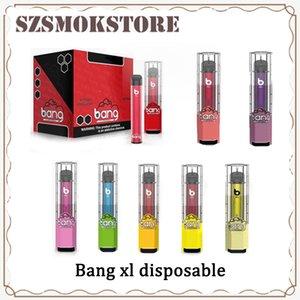 Bang XL Xtra monouso dispositivo Pod preriempita 2 ml Cartuccia 450mAh batterie 600 Puff Vape Svuotare penna VS Posh PLUS bar Portata trasporto libero