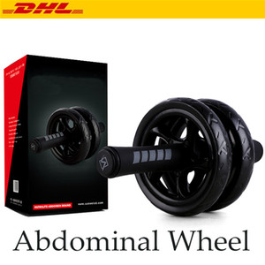 Free DHL New Keep Fit Wheels Muscle Exercise Equipment No Noise Double Wheel Abdominal Power Wheel Ab Roller For Exercise Fitness Equipment
