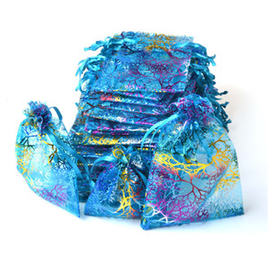 Cordonnet sacs organza sac d'emballage cadeau pochette cadeau bijoux sachets organza sac couleur de mélange de sac d'emballage de sacs de bonbons