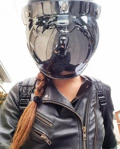 Retro Helmet Bubble Visor Open Face Helmet Windshield Compatible With 3 Button Adjustable 4tjo#