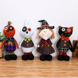 Cadılar Bayramı Cadı Doll Hayalet Cadı Doll Kabak Cadı Kara Kedi Beyaz Spectre Doll Cadılar Bayramı Çocuk Hediyeleri DHA543