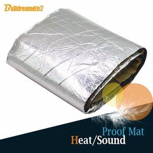 Buildreamen2 100см X100cm Алюминиевая фольга Авто Двигатель Крыша Магистральные тепла Звукоизоляция Теплоизоляция Абсорбция Хлопок Deadener Mat vQ1Y #