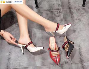 KNXR 220327 en punta tacón alto y medio zapatillas mujer tacones altos deslizadores de las sandalias mulas Diapositivas bombea los zapatos de vestir zapatillas de deporte