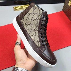 2021 nuovi uomini di arrivo '; S High Top Sneaker Manner Scarpe casual Stivaletti uomo Moda classico pizzo-Up Plus Size uomini scarpe leggere Luxur