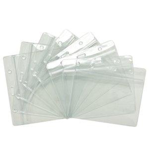 Impermeables titulares de tarjetas de identificación carda Banda Bolsas de almacenamiento Sobres transparentes protectores de plástico suave blindado 60pcs / lot