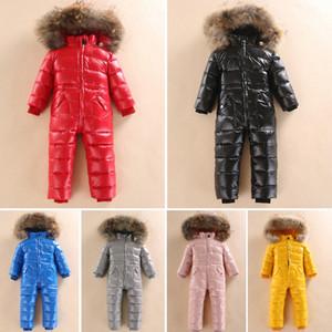 -30 Snowsuit de invierno ruso 2018 chaqueta de bebé 80% pato de pato al aire libre ropa infantil niñas escalada para niños niños mono 2 ~ 5y ~ 5y #
