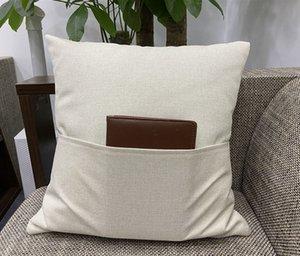 Takın A02 olmadan Sublime Yastık Blank Cep Yastık Kapak Isı Transfer Baskı Keten Yastık Yastık Polyester Kapaklar