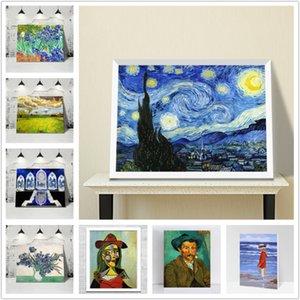 Arkadaş yok Çerçevesi için Van Gogh, Picasso Artwork Kopya handpainted Hediyeler Boyama Özelleştirilmiş DIY Uluslararası Artwork Özet Yağı
