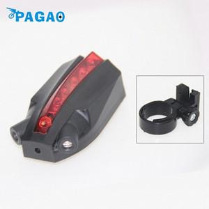 5LED 2 Лазерный велосипед Интеллектуальный Задний задний фонарь безопасности лампа Super Cool для Owimin Смарт Велоспорт велосипед Accessorie 0114 Flxi #
