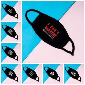 JE RESPIRER Masques vie noire Matière visage masque George Floyd adultes Masques Lavable réutilisables Masque Designer 9 Styles