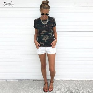 Fashion Camouflage Blouse Women Female Printed Tops Short Sleeves Women T Blouse Military Uniform Casual Top Tees
