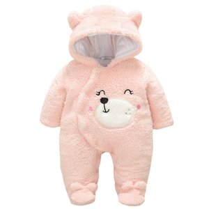 Newborn Boy Girls Jumpsuit Winter Hoodie Baby Clothes Infant Flannel Climbing Suits New Spring Outerwear Toddler Rompers 3m-12m