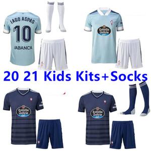 NOUVELLES 20 21 Celta Vigo Football Maillots Brais MENDEZ 2020 2021 Celta Vigo Iago Aspas BOUFAL M. GOMEZ maillot de foot kits d'enfants + chaussettes