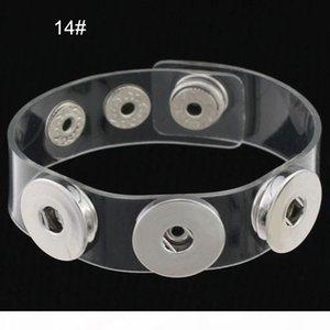 K Charm Bracelets Silver Snap Fit Diy Snaps Buttons Jewelry 18mm Cheap Knot Ginger Snap Jewelry Leather Bracelets
