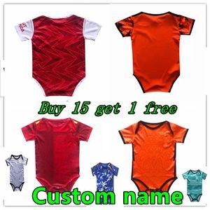 Детский футбол Джерси 2020 21 21 Bambin 6-18 месяцев BB Body Bodysuit 20 21 ползучая одежда Футбол