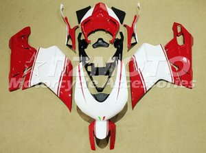 New ABS Injection Mold Motorcycle whole Fairings kit Fit For Ducati 848 EVO 1098 1198 2007 2008 2009 2010 2011 2012 Red white
