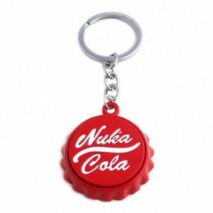 Vente chaude Nuka Cola Keychain de haute qualité Inscrivez-bouteille en métal Cap ouvre-bouteille porte-clés Hommes Femmes Bijoux PartyGift Key retractable Cha CAOF #
