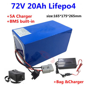 GTK 72V 20Ah LiFepo4 lithium battery for electric scooter Citycoco Scooter skateboard motorcycle +5A charger+Bag