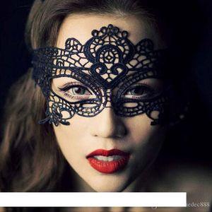 21 Styles Sexy Lady Lace Mask Fashion Hollow Eye Mask Black Masquerade Party Fancy Masks Halloween Venetian Mardi Party Costume VT1350
