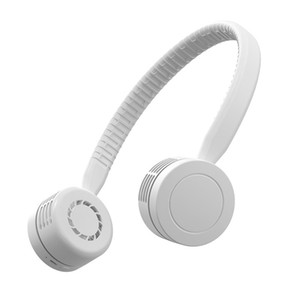 Hanging neck fan sports fan leafless small portable mini turbo small fan silent USB charging hanging neck