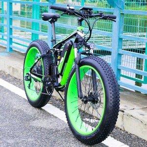 """NEW 26 """"모터 최대 출력 500W48V 지방 타이어 전기 자전거 산악 자전거"""