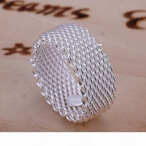 R Hot Sale Network Sterling Silver Ring Gr040 ,Women &#039 ;S 925 Silver Rrings Band Rings