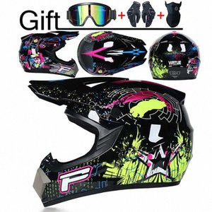 Professional DOT Motor Off Road Helmet Motorcycle Helmet Downhill Racing Motocross Casque Moto 3 Free Gift Suitable Kid bWt3#