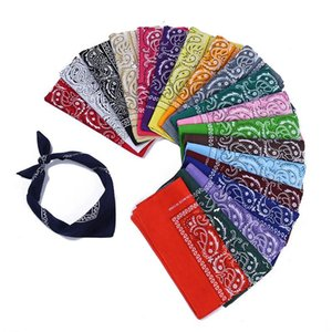 Paisley Bandana Cotton Headband Multifunctional Wristband Headscarf Paisley Printed Cowboy Bandanas Square Handkerchief Party Favor CCA12034