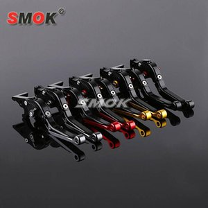 SMOK Motorcycle Accessories CNC Aluminum Adjustable Folding Extendable Brake Clutch Levers For YZF R3 YZF-R3 2014-2020