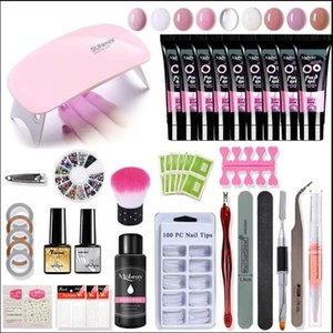 polygel Manicure Set 36w Led Lamp Gel Nail Polish Set Quick Building For Nail Extensions Hard Jelly Gel Acrylic Kit Art