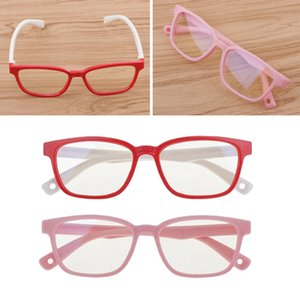 2PCS New Kids Eyeglasses Anti Eyestrain Soft Silicone Frame Glasses Eyewear